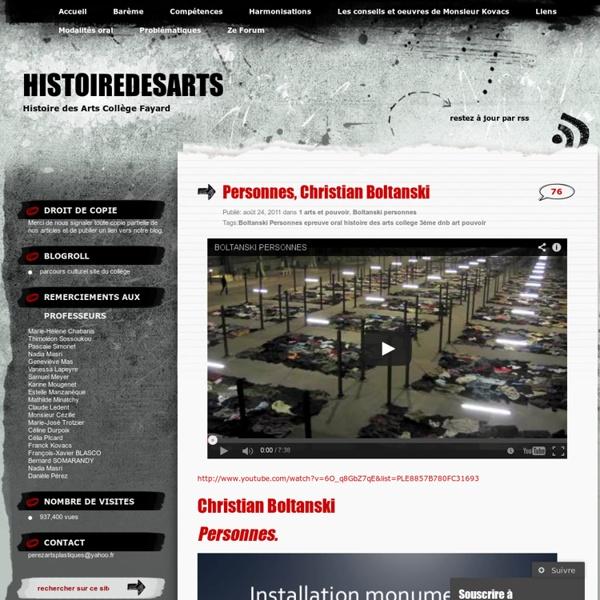 Personnes, Christian Boltanski « dnbhistoiredesarts