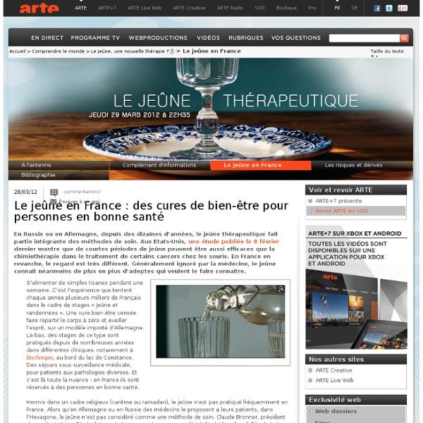 Le jeûne en France : des cures de bien-être pour personnes en bonne santé