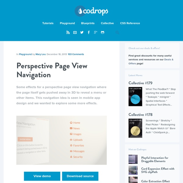 Perspective Page View Navigation
