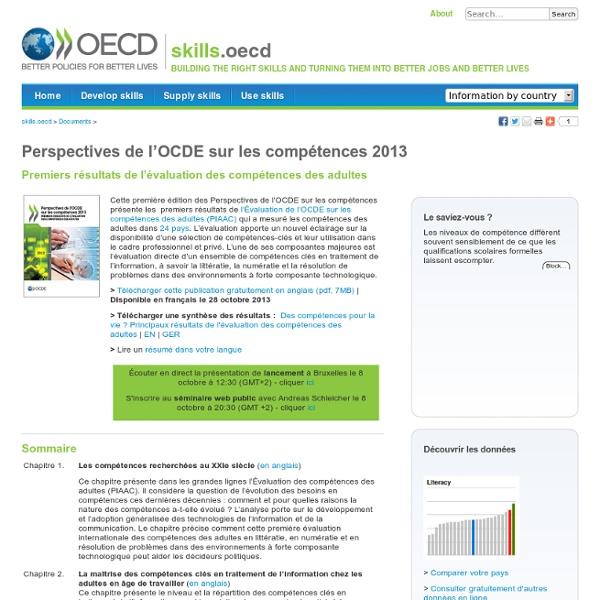 Documents:- Les perspectives sur les competences