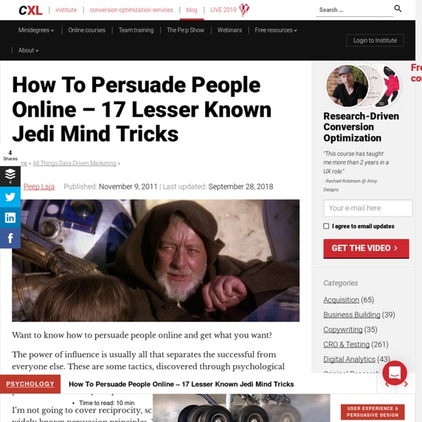 Jedi Mind Tricks: 17 Lesser Known Ways to Persuade People