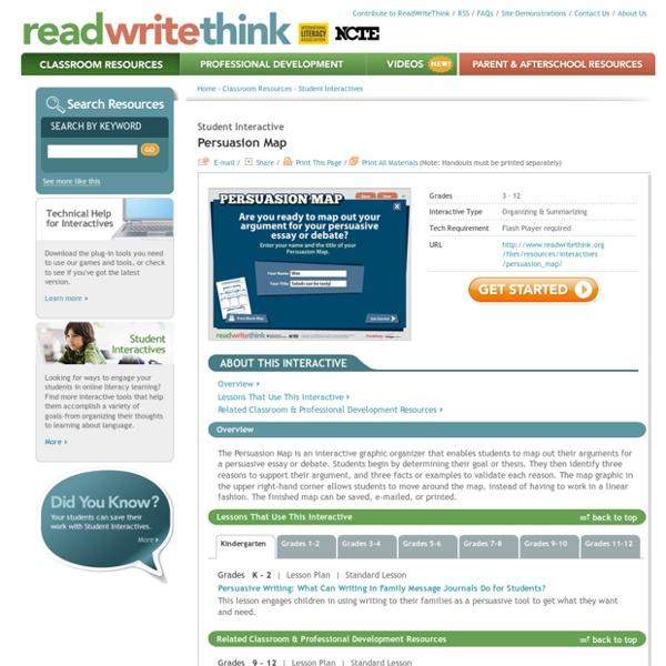 readwritethink org persuasion map Persuasion Map Pearltrees readwritethink org persuasion map