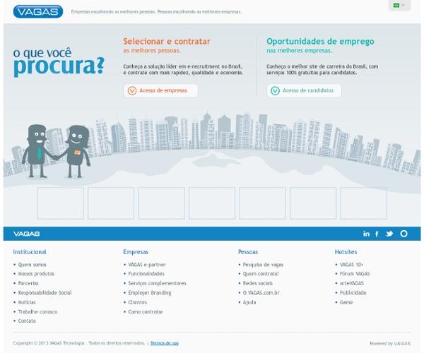 VAGAS - Oportunidades gratuitas e soluções para R&S