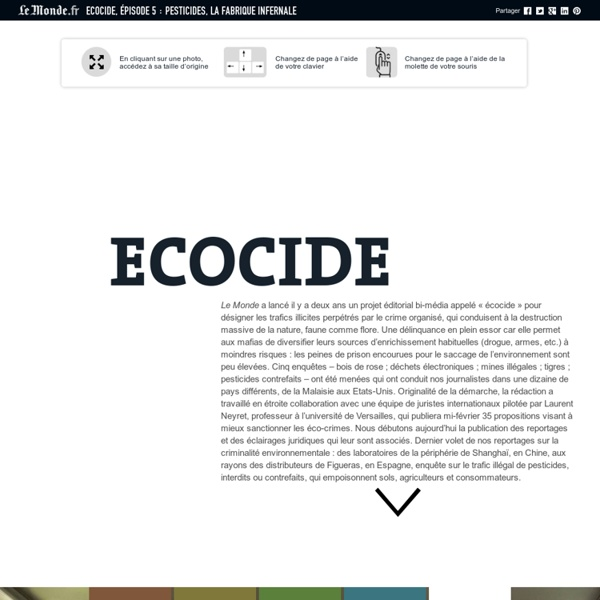Ecocide, épisode 5 : pesticides, la fabrique infernale