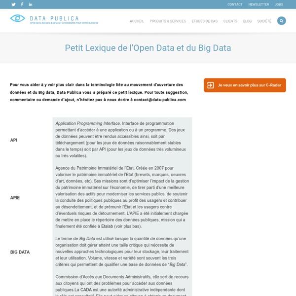 Petit Lexique de l'Open Data