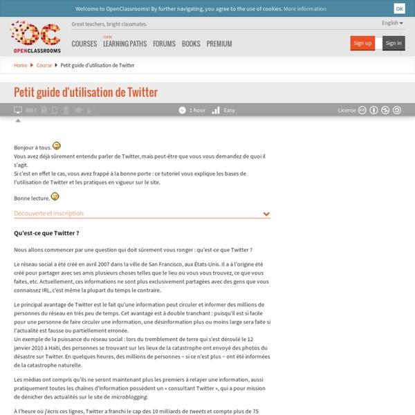 Petit guide d'utilisation de Twitter