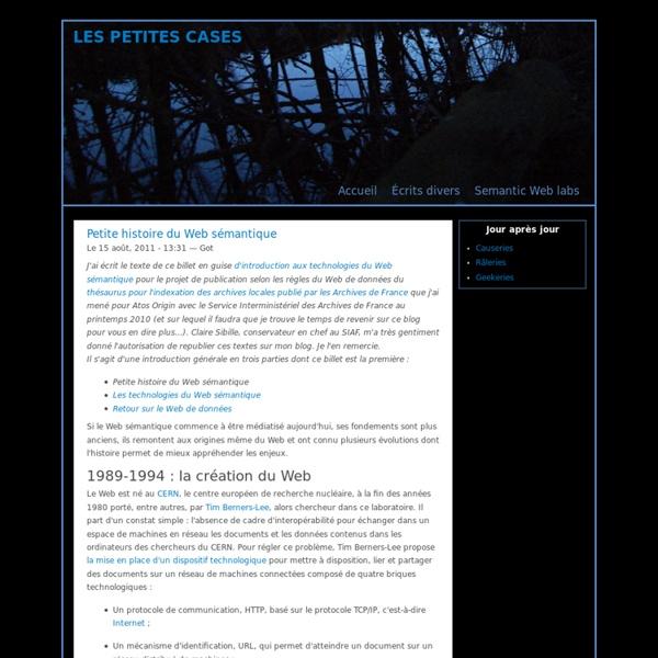 Petite histoire du Web sémantique