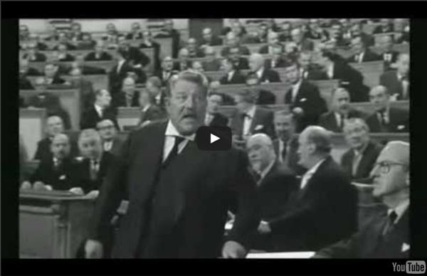 """Petite leçon d'Europe par Jean Gabin dans """"Le président"""""""