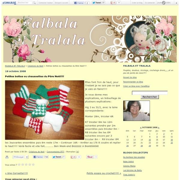 Petites bottes ou chaussettes du Père Noël!!!! - FALBALA ET TRALALA