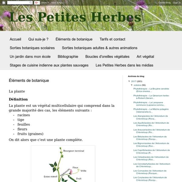 Eléments de botanique