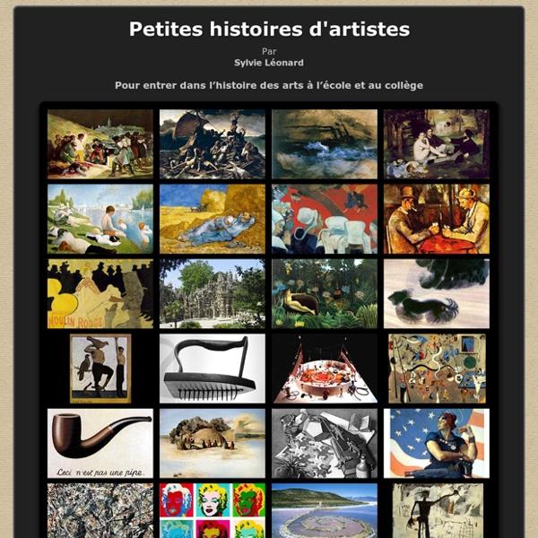 Petites histoires d'artistes par Sylvie Léonard