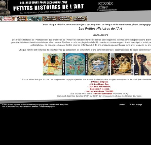 PETITES HISTOIRES DE L'ART - accueil collection - CRDP-LR
