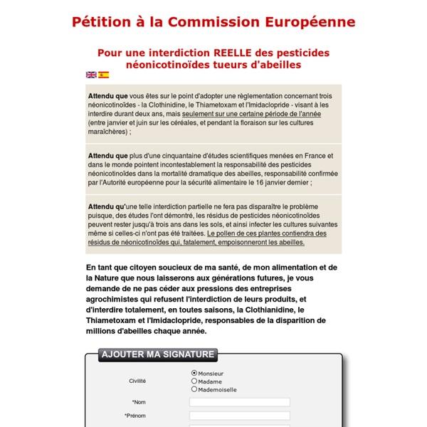 Pétition à la Commission Européenne