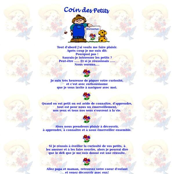 Coin des Petits, prescolaire, page d'accueil