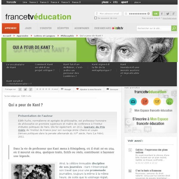 Qui a peur de Kant ?