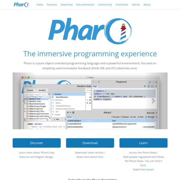 Pharo - Welcome to Pharo!