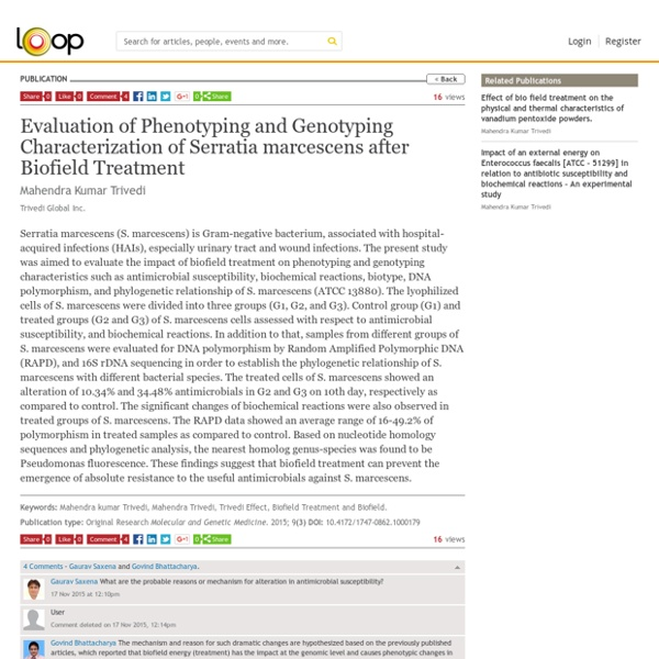 Alteration of Phenotyping and Genotyping of Serratia Marcescens