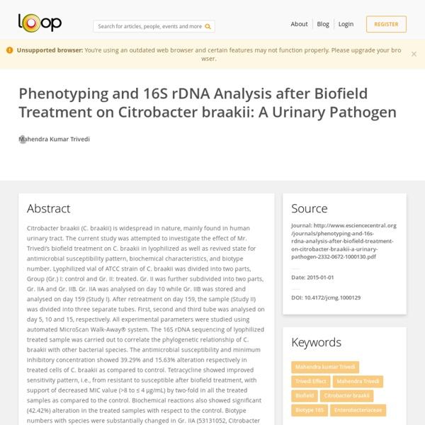 Phenotyping and 16S rDNA Analysis of C. braakii