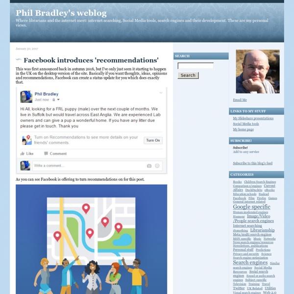 Phil Bradley's weblog