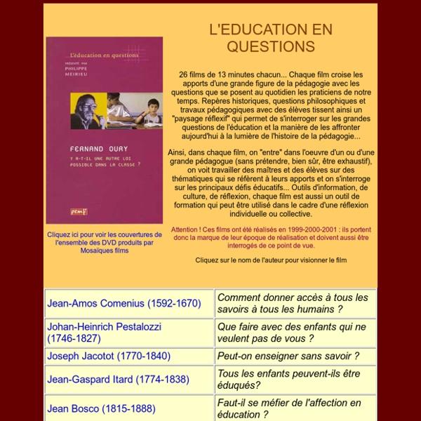 Site de Philippe MEIRIEU : L'EDUCATION EN QUESTIONS