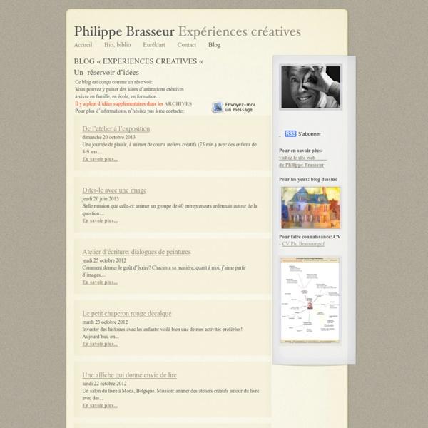 Philippe Brasseur Expériences créatives