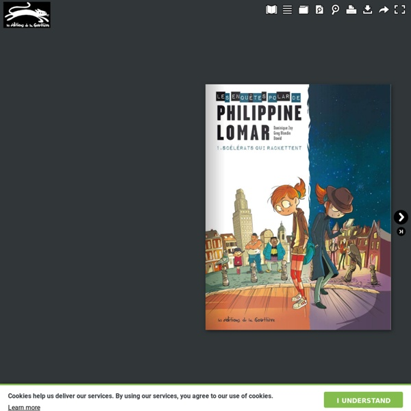 Les Enquêtes Polar de Philippine Lomar, Tome 01 : Les scélérats qui rackettent (BD)