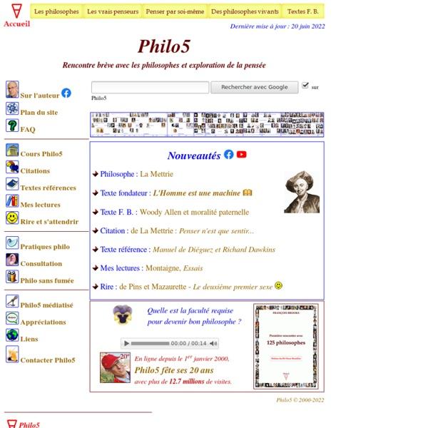 Philo5 - Accueil