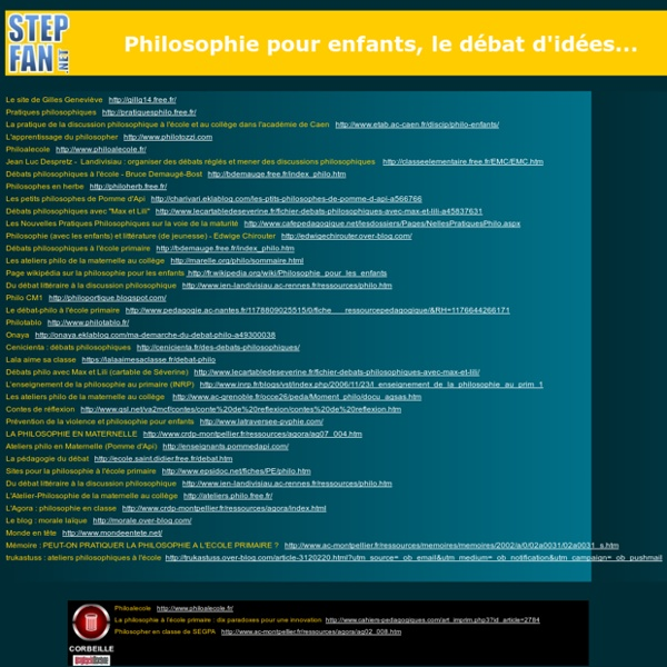 Sites pour ateliers à visée philosophique