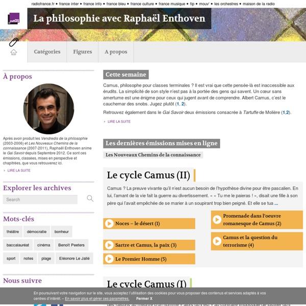 France culture : la philosophie avec Raphaël Enthoven
