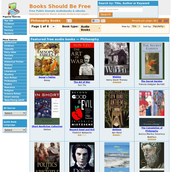 Philosophy Audio Books Free Download. Free mp3 Audio Book Downloads.