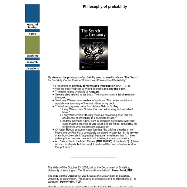 Philosophy of probability