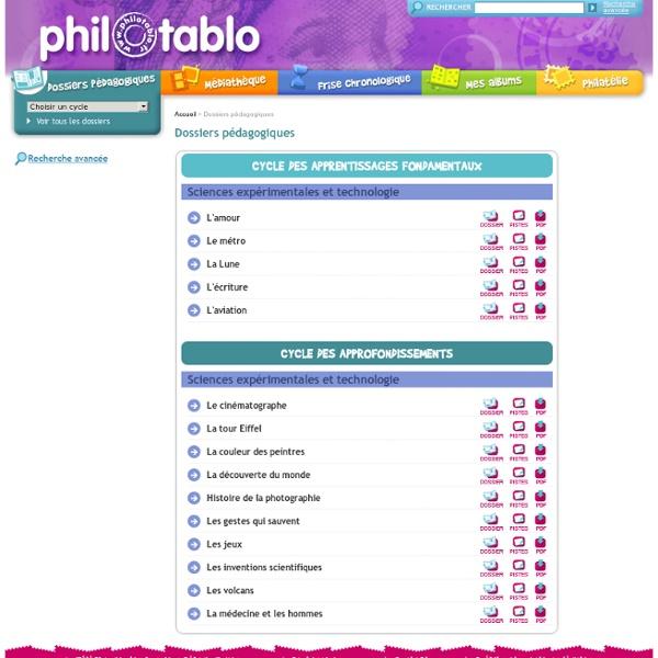 Philotablo - Sciences expérimentales et technologie