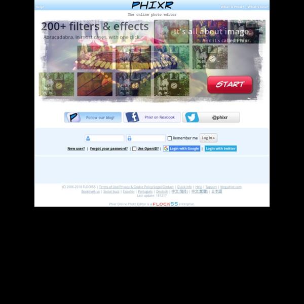 Phixr - Online Photo Editor