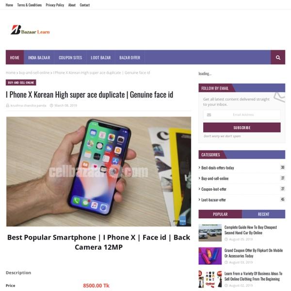 I Phone X Korean High super ace duplicate