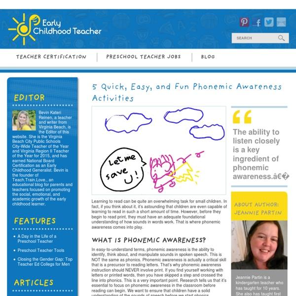 5 Quick, Easy, and Fun Phonemic Awareness Activities