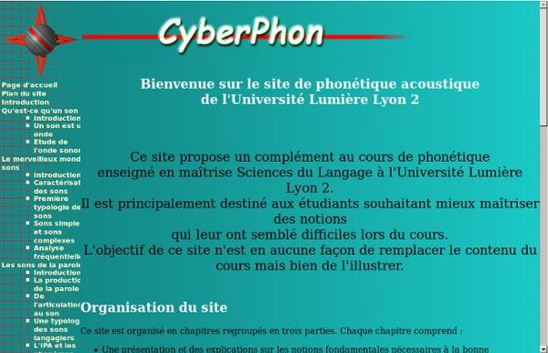 Site de phonétique acoustique de l'Université Lumière Lyon 2