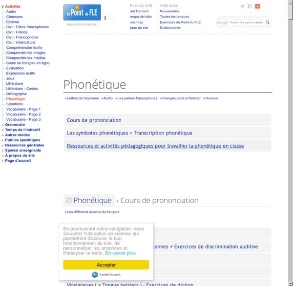 Phonétique du français FLE