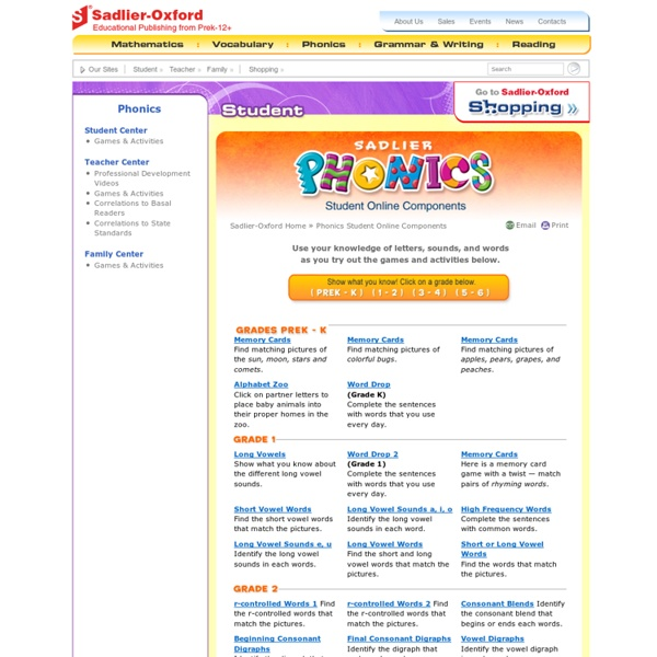 Phonics Student Online Components