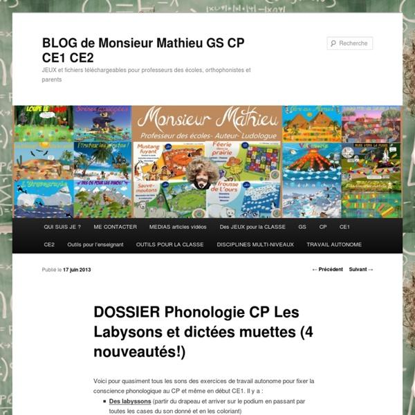 DOSSIER Phonologie CP Les Labysons et dictées muettes (4 nouveautés!)