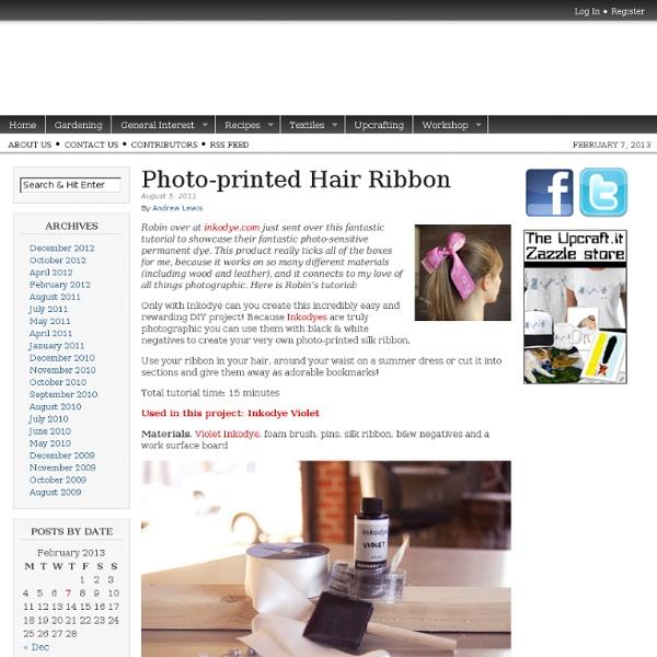Photo-printed Hair Ribbon