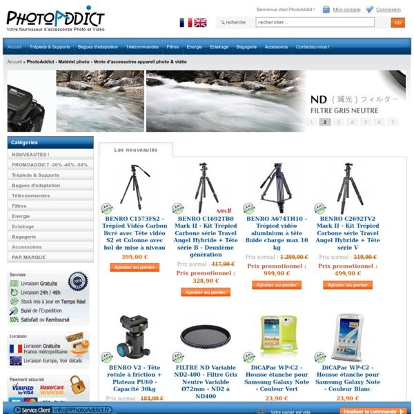 PhotoAddict - Matériel photo - Vente d'accessoires appareil photo & vidéo