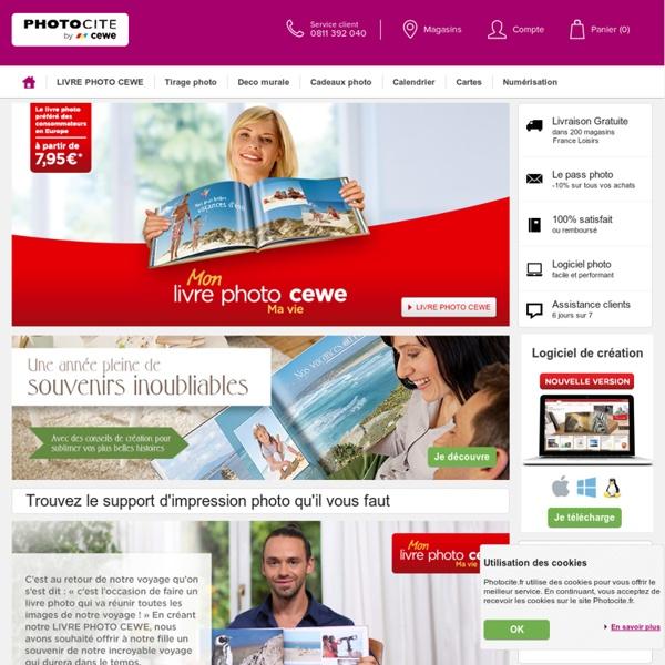 Livre photo, developpement photo, tirage photos en ligne avec Photocité