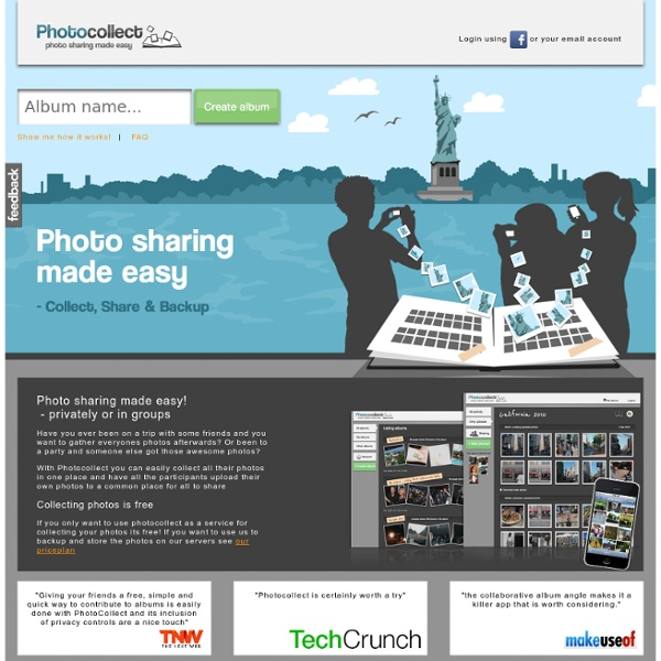 PhotoCollect - Photo sharing made easy, privately or in groups