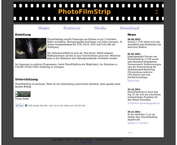 PhotoFilmStrip : Slideshows in Full-HD