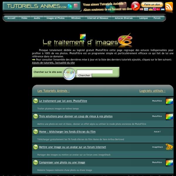 Tutoriel PhotoFiltre : Traitement d'images et de photos