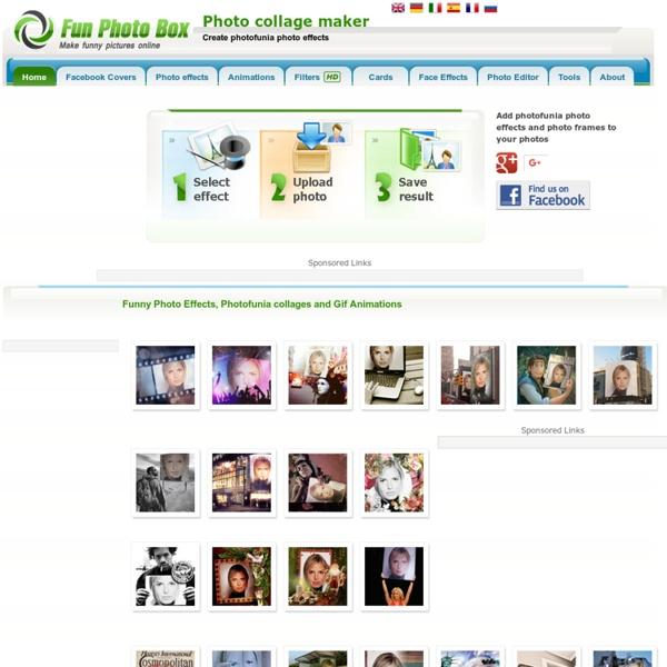 Photo Collage Maker - Photofunia, picjoke. Photo Effects, Photo Frames, Photo Fun