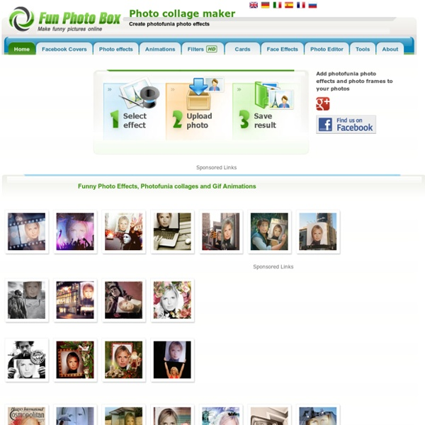 Photofunia, picjoke. Photo Effects and Photo Fun. Imikimi, imagechef, befunky