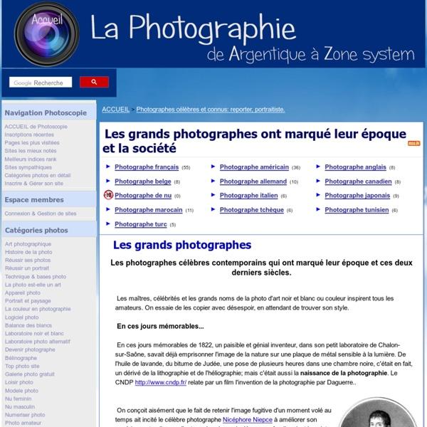 Photographe célèbre