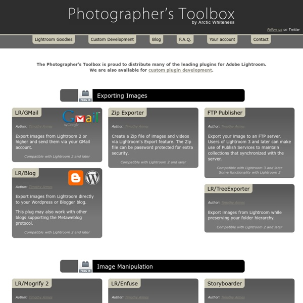 Photographer's toolbox - your source for Lightroom Plugins and Web Engines