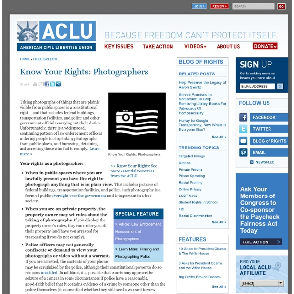 Know Your Rights: Photographers